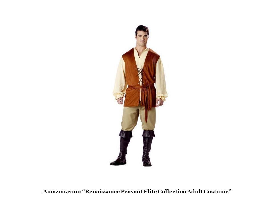 """Amazon.com: """"Renaissance Peasant Elite Collection Adult Costume"""""""