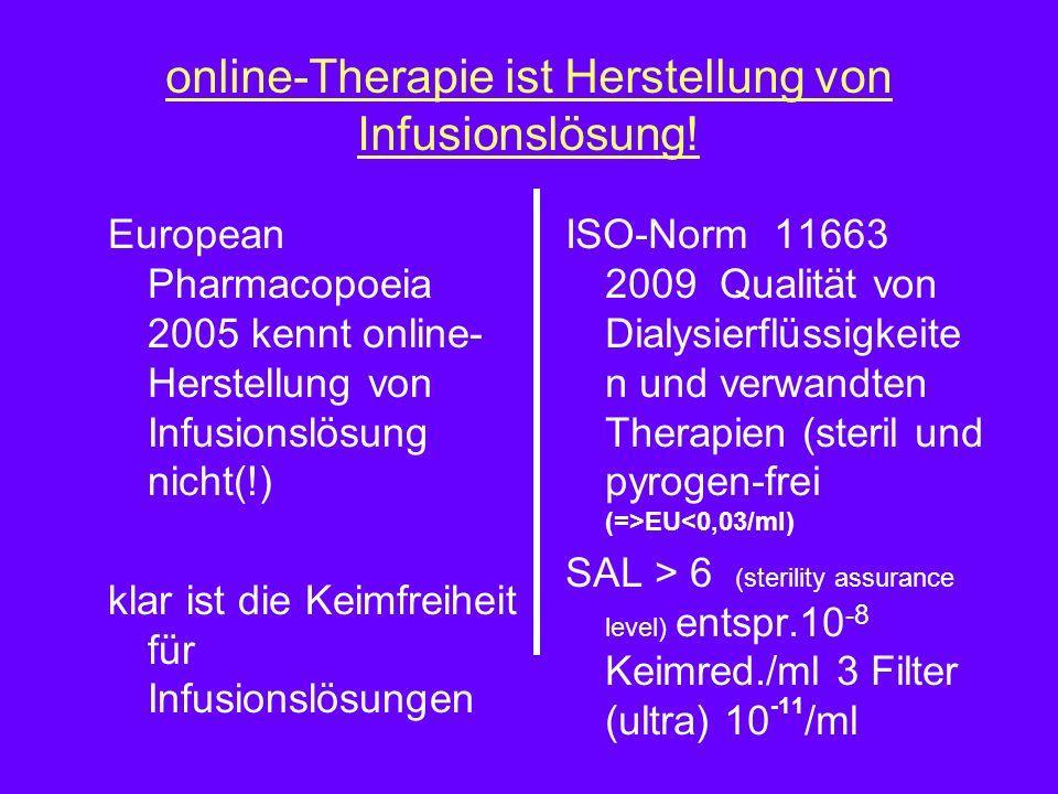 online-Therapie ist Herstellung von Infusionslösung.