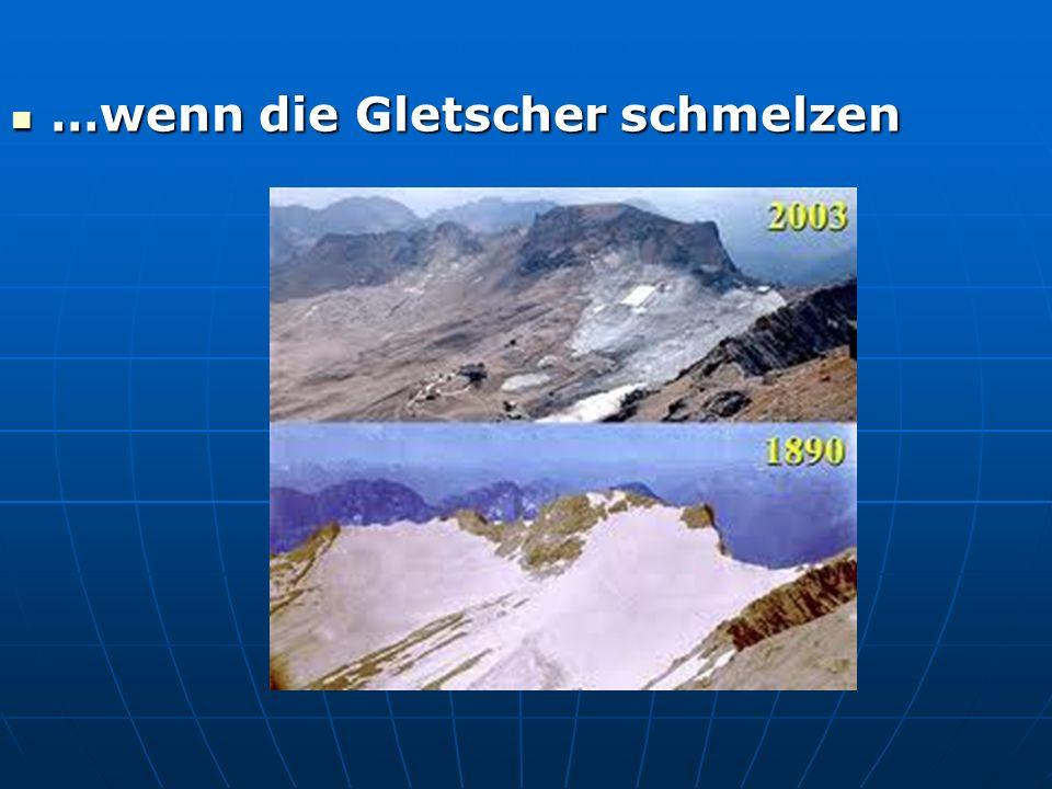 …wenn die Gletscher schmelzen …wenn die Gletscher schmelzen
