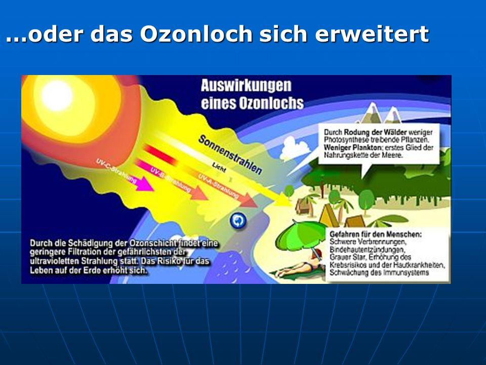 …oder das Ozonloch sich erweitert