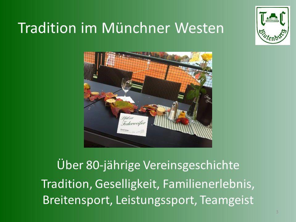 Tennis im Münchner Westen 4 Top-gepflegte Anlage mit 12 Plätzen (Frei: 10 Sand, Halle: 2 Sand)