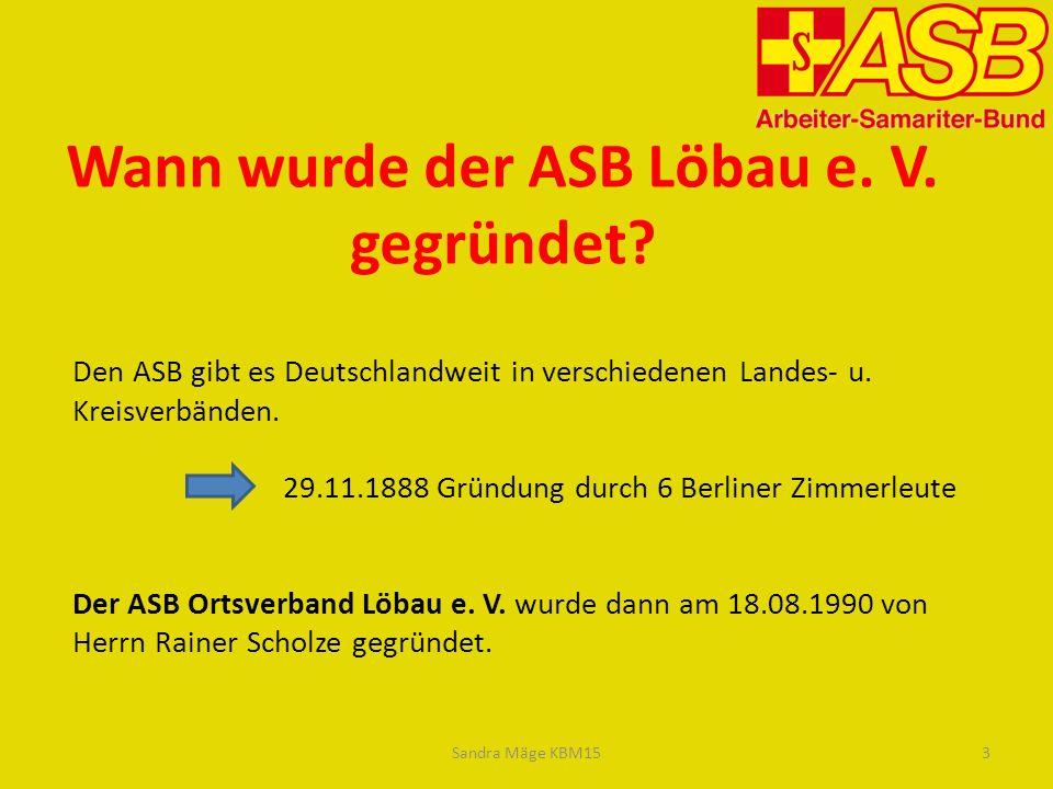 Den ASB gibt es Deutschlandweit in verschiedenen Landes- u.