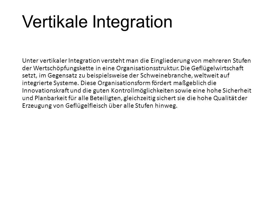 Vertikale Integration Unter vertikaler Integration versteht man die Eingliederung von mehreren Stufen der Wertschöpfungskette in eine Organisationsstr
