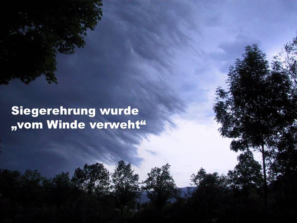 """Siegerehrung wurde """"vom Winde verweht"""