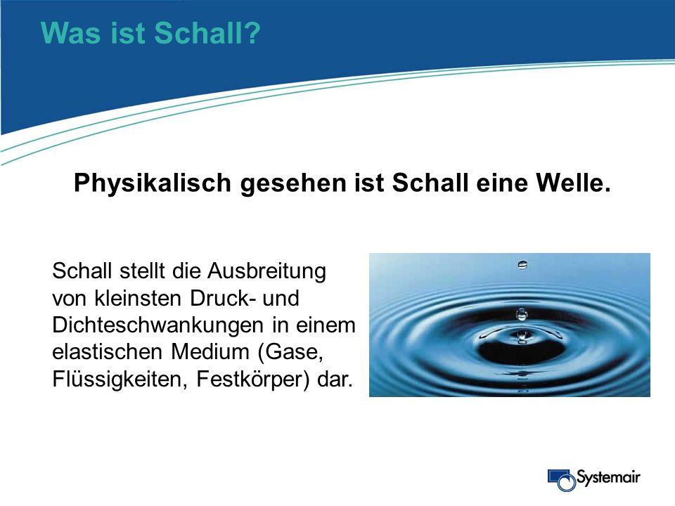 Was ist Schall? Schall stellt die Ausbreitung von kleinsten Druck- und Dichteschwankungen in einem elastischen Medium (Gase, Flüssigkeiten, Festkörper