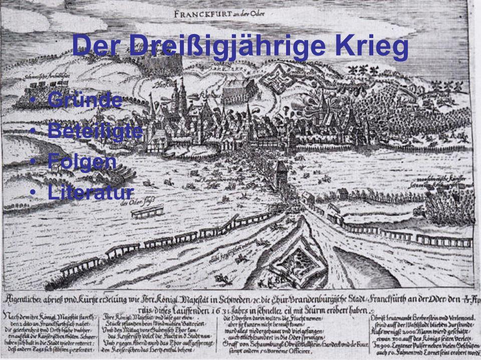 Gründe des Konfliktes: -Reformation und Gegenreformation des 16.