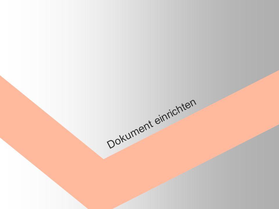 Dokument einrichten