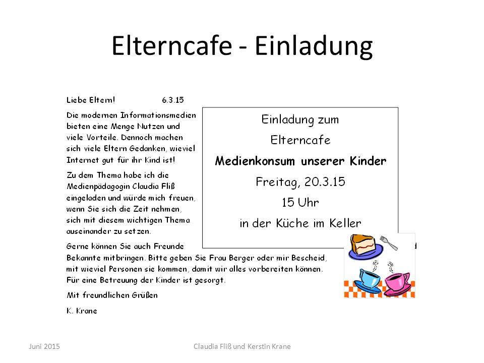 Ablauf Elterncafe Bildkartenspiel Gespräch Mauer der Alternativen Ausblick Juni 2015Claudia Fliß und Kerstin Krane