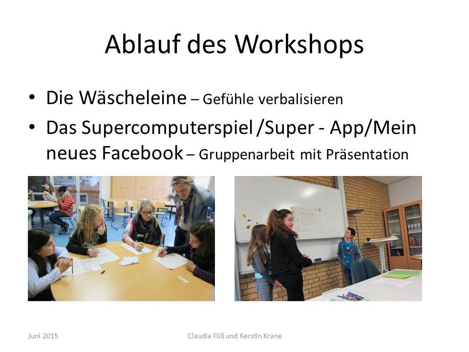 Ablauf Workshop Mauer der Alternativen Juni 2015Claudia Fliß und Kerstin Krane