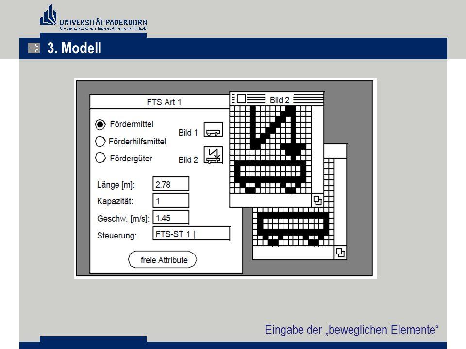 """Eingabe der """"beweglichen Elemente"""" 3. Modell"""