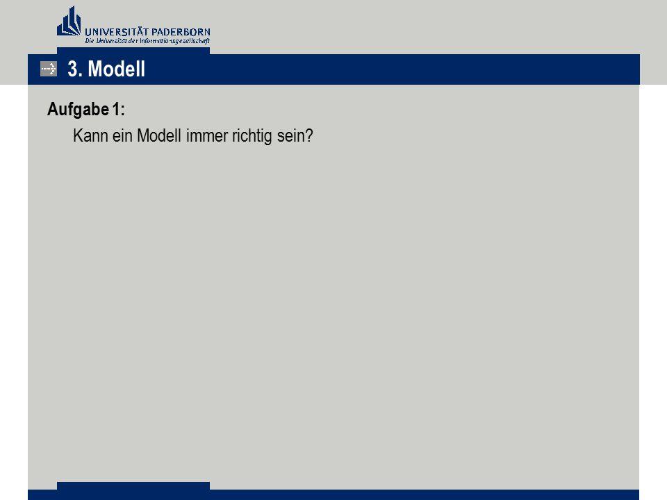 Aufgabe 1: Kann ein Modell immer richtig sein? 3. Modell