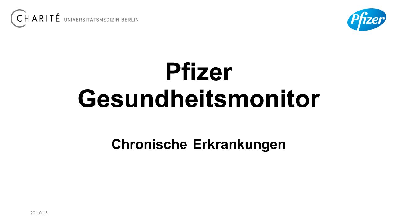 Pfizer Gesundheitsmonitor Chronische Erkrankungen 20.10.15