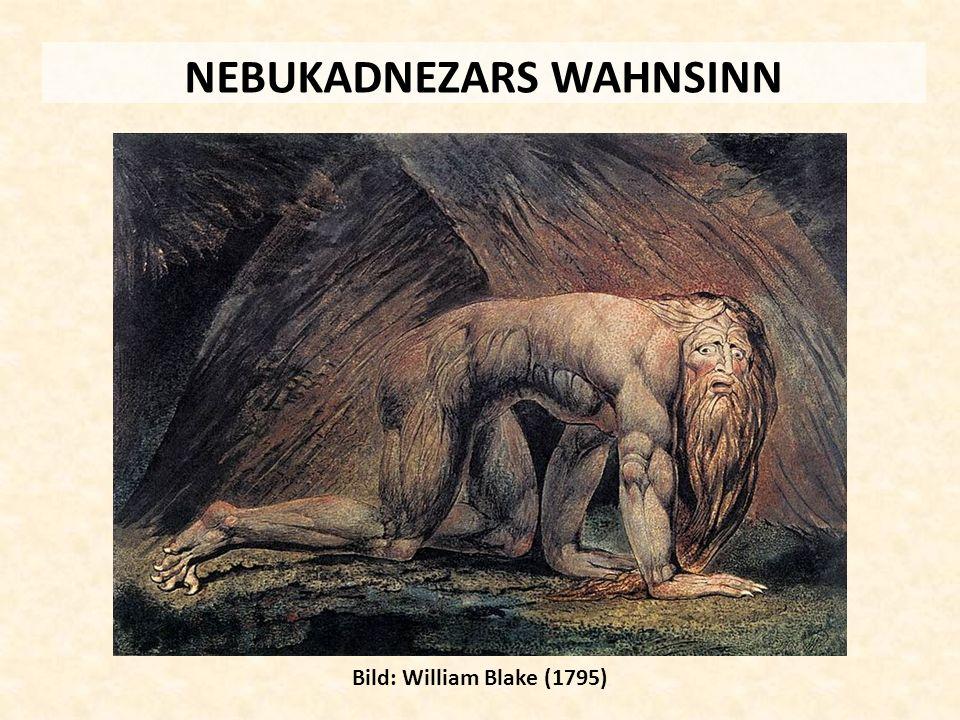 NEBUKADNEZARS WAHNSINN Bild: William Blake (1795)