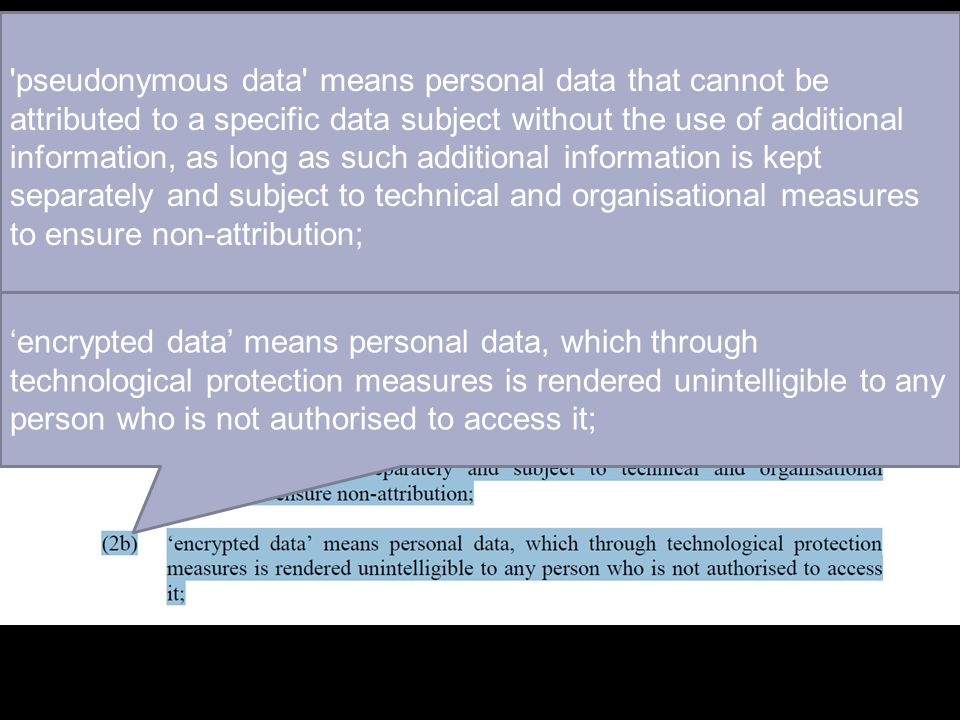 'pseudonymous data' means personal data that cannot be attributed to a specific data subject without the use of additional information, as long as suc