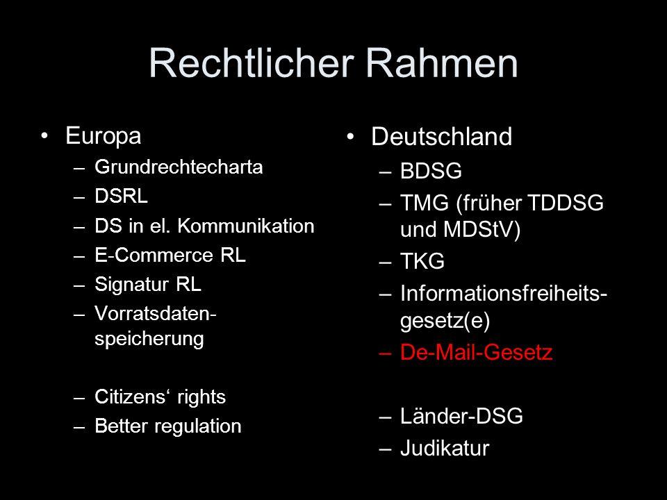 Nationales (deutsches) Recht BDSG Ländergesetze – zB Niedersächsisches Datenschutzgesetz (NDSG) in der Fassung vom 29.