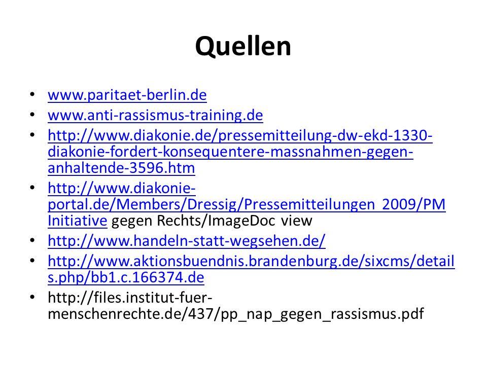 Quellen www.paritaet-berlin.de www.anti-rassismus-training.de http://www.diakonie.de/pressemitteilung-dw-ekd-1330- diakonie-fordert-konsequentere-mass