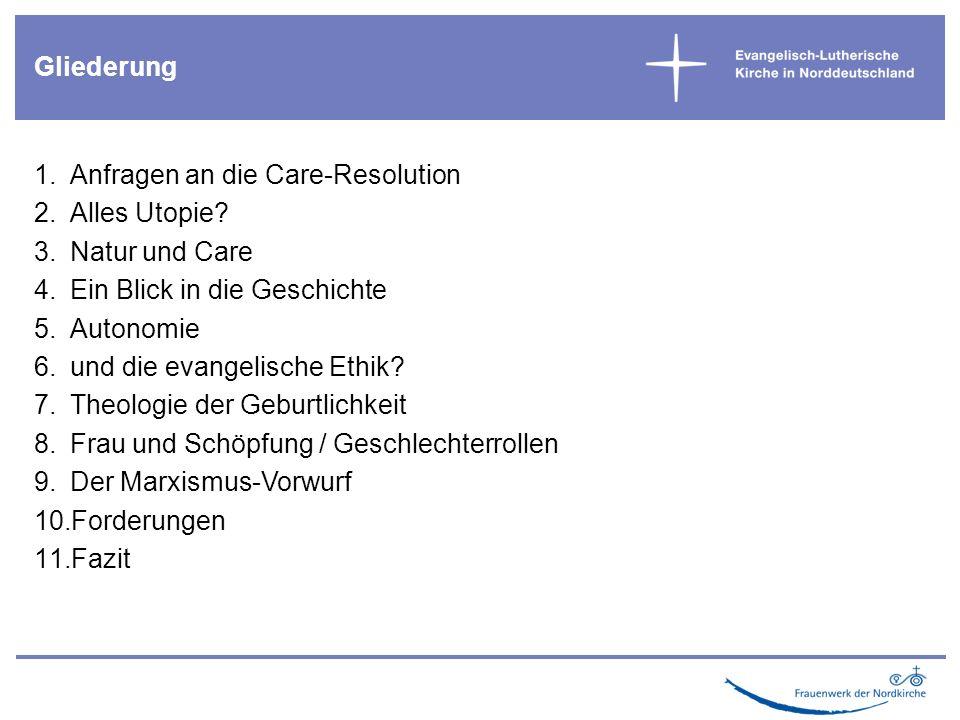 1.Anfragen an die Care-Resolution 2.Alles Utopie.
