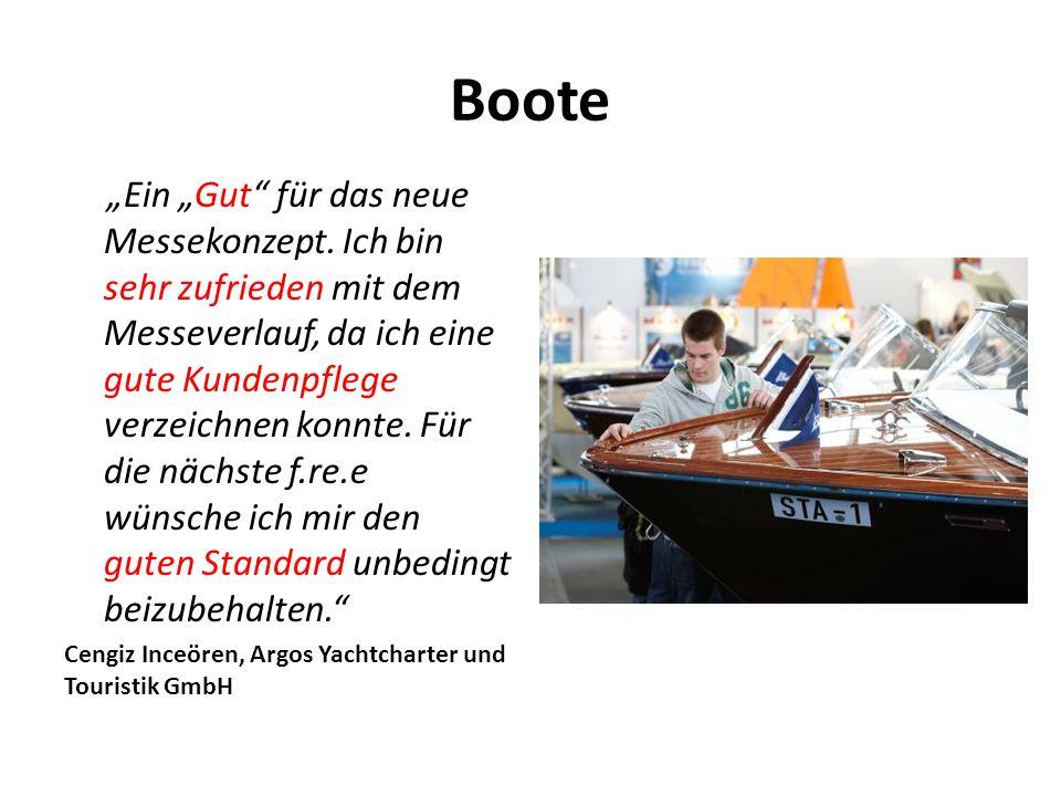 """Boote """"Ein """"Gut für das neue Messekonzept."""