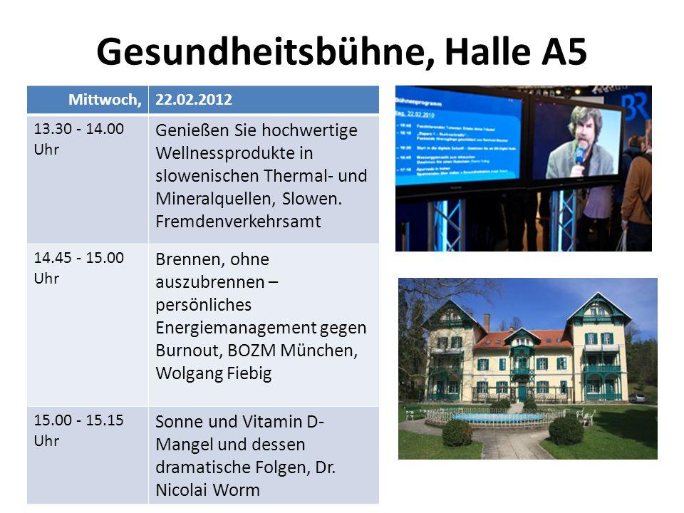 Gesundheitsbühne, Halle A5 Mittwoch,22.02.2012 13.30 - 14.00 Uhr Genießen Sie hochwertige Wellnessprodukte in slowenischen Thermal- und Mineralquellen, Slowen.