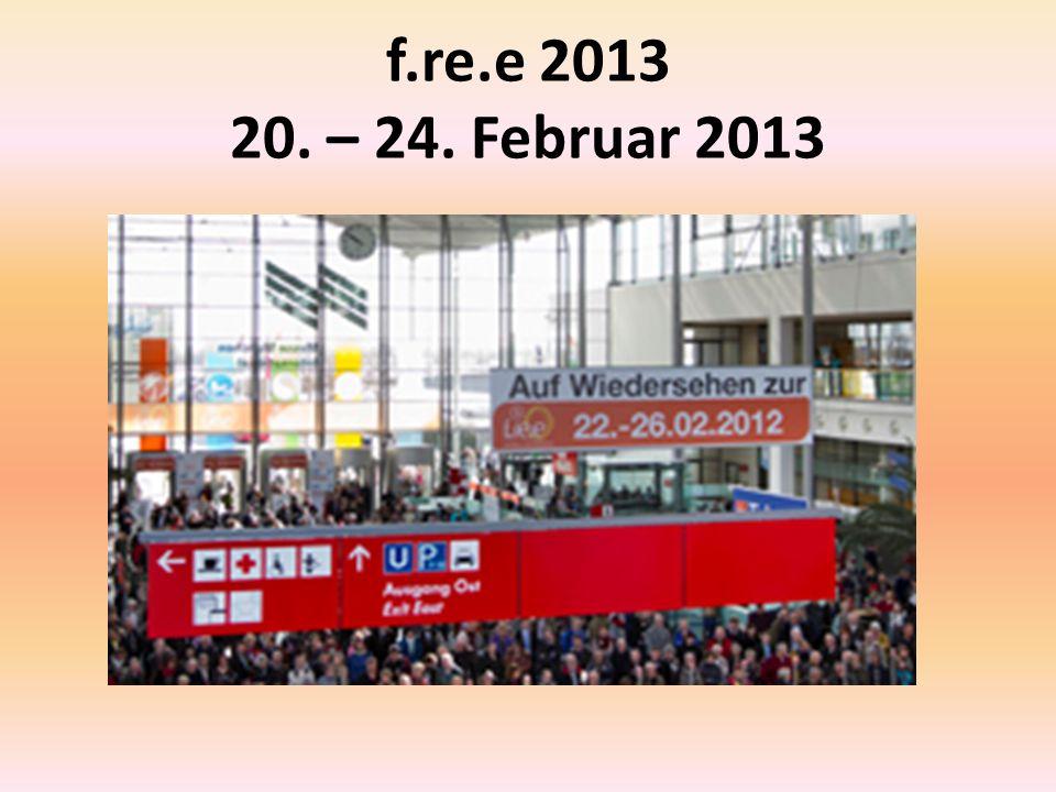 f.re.e 2013 20. – 24. Februar 2013