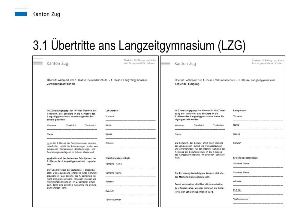 3.1 Übertritte ans Langzeitgymnasium (LZG)
