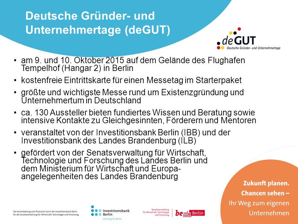 am 9. und 10. Oktober 2015 auf dem Gelände des Flughafen Tempelhof (Hangar 2) in Berlin kostenfreie Eintrittskarte für einen Messetag im Starterpaket