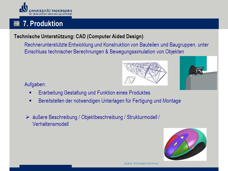 Technische Unterstützung: CAD (Computer Aided Design) Rechnerunterstützte Entwicklung und Konstruktion von Bauteilen und Baugruppen, unter Einschluss