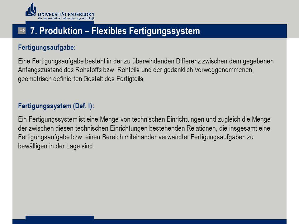 Fertigungsaufgabe: Eine Fertigungsaufgabe besteht in der zu überwindenden Differenz zwischen dem gegebenen Anfangszustand des Rohstoffs bzw. Rohteils
