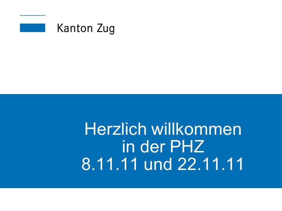 Herzlich willkommen in der PHZ 8.11.11 und 22.11.11