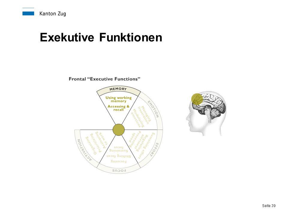 Seite 39 Exekutive Funktionen