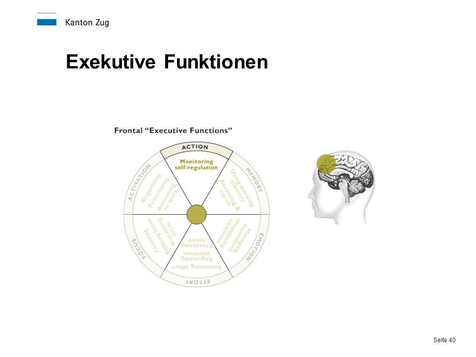 Seite 40 Exekutive Funktionen