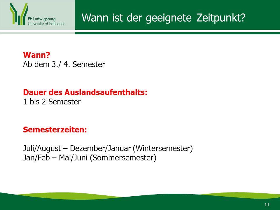12 Überschneidung Semester Ausland mit Ludwigsburg