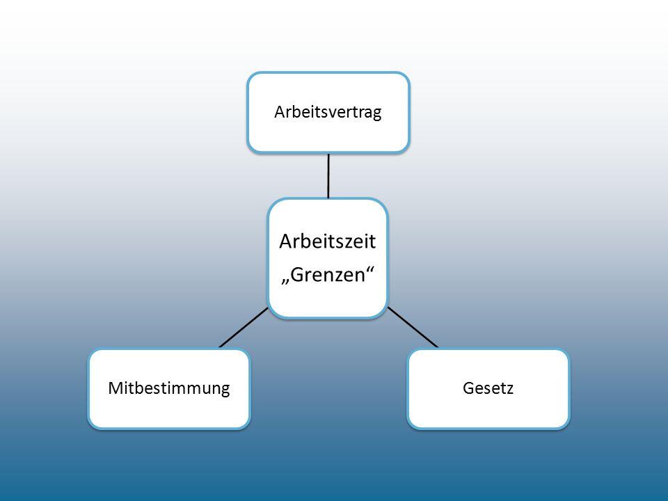 """Arbeitszeit """"Grenzen"""" ArbeitsvertragGesetzMitbestimmung"""