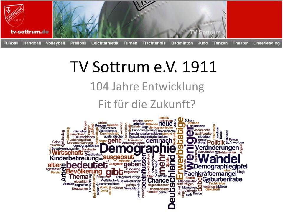 TV Sottrum e.V. 1911 104 Jahre Entwicklung Fit für die Zukunft