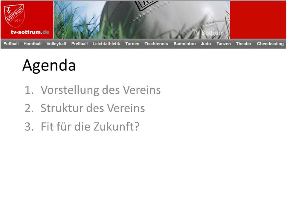 Agenda 1.Vorstellung des Vereins 2.Struktur des Vereins 3.Fit für die Zukunft