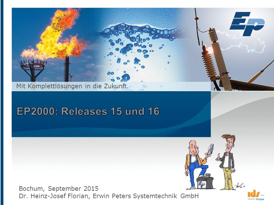 Seite 1 Erwin Peters Systemtechnik GmbH www.epsystem.de ein Unternehmen der © September 2015 Mit Komplettlösungen in die Zukunft. Bochum, September 20
