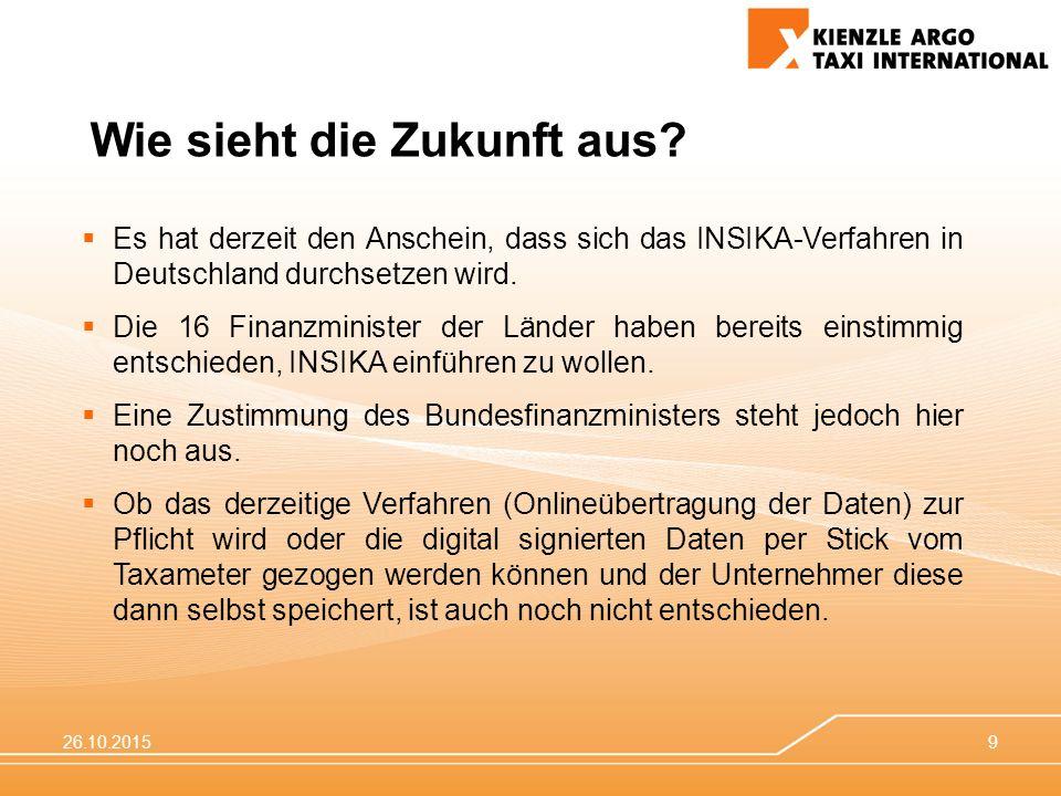 26.10.20159  Es hat derzeit den Anschein, dass sich das INSIKA-Verfahren in Deutschland durchsetzen wird.