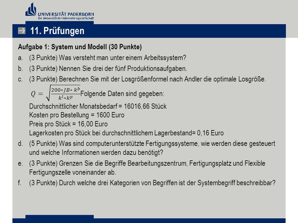 g.(4 Punkte) Durch welche Eigenschaften wird die Komplexität eines Systems bestimmt.