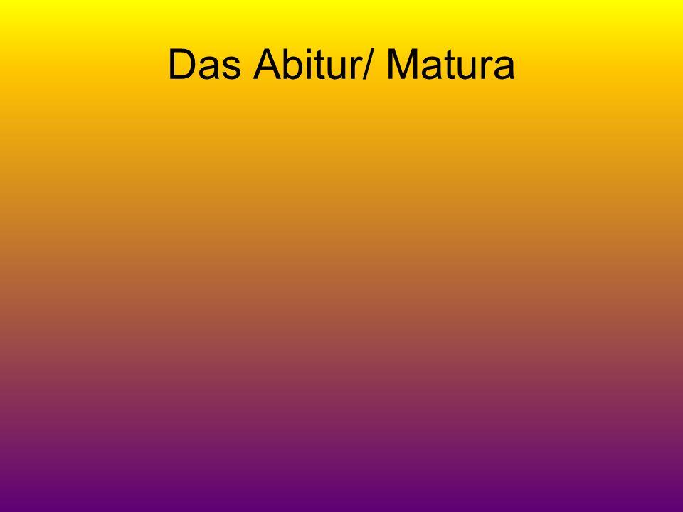 Das Abitur/ Matura