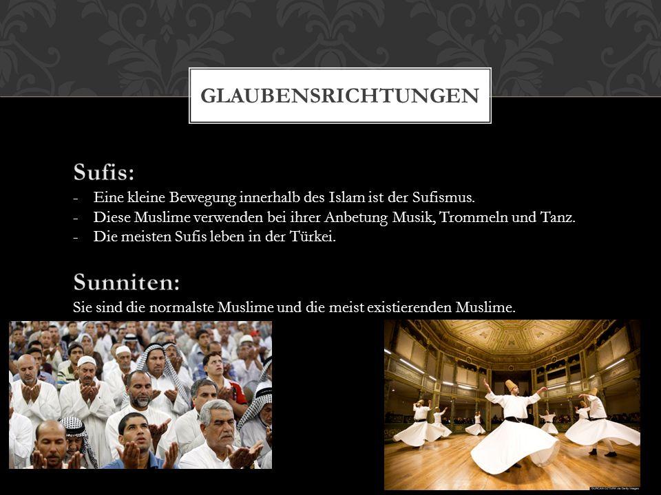 GLÄUBIGE MENSCHEN HEUTE 1)Imam ist Vorstehender der Muslime. 2)Man erkennt sie, indem man darauf achtet, ob sie sich an die Kleiderregeln halten.