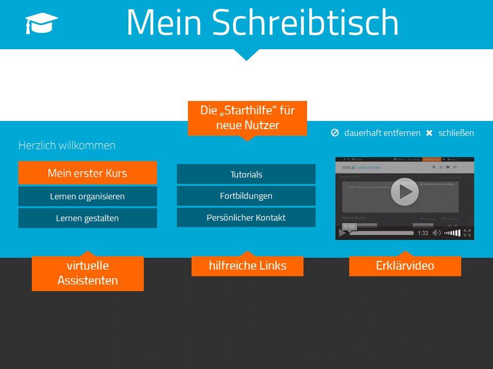 """Mein Schreibtisch Die """"Starthilfe"""" für neue Nutzer virtuelle Assistenten hilfreiche LinksErklärvideo"""