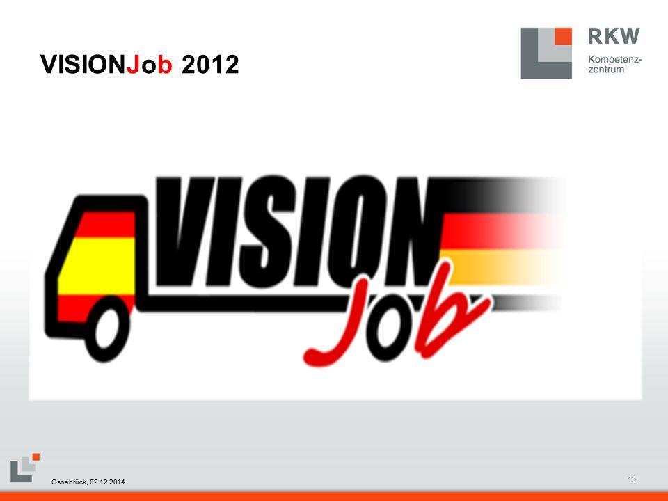 RKW Kompetenzzentrum Masterfolie Juni 200813 VISIONJob 2012 Osnabrück, 02.12.2014