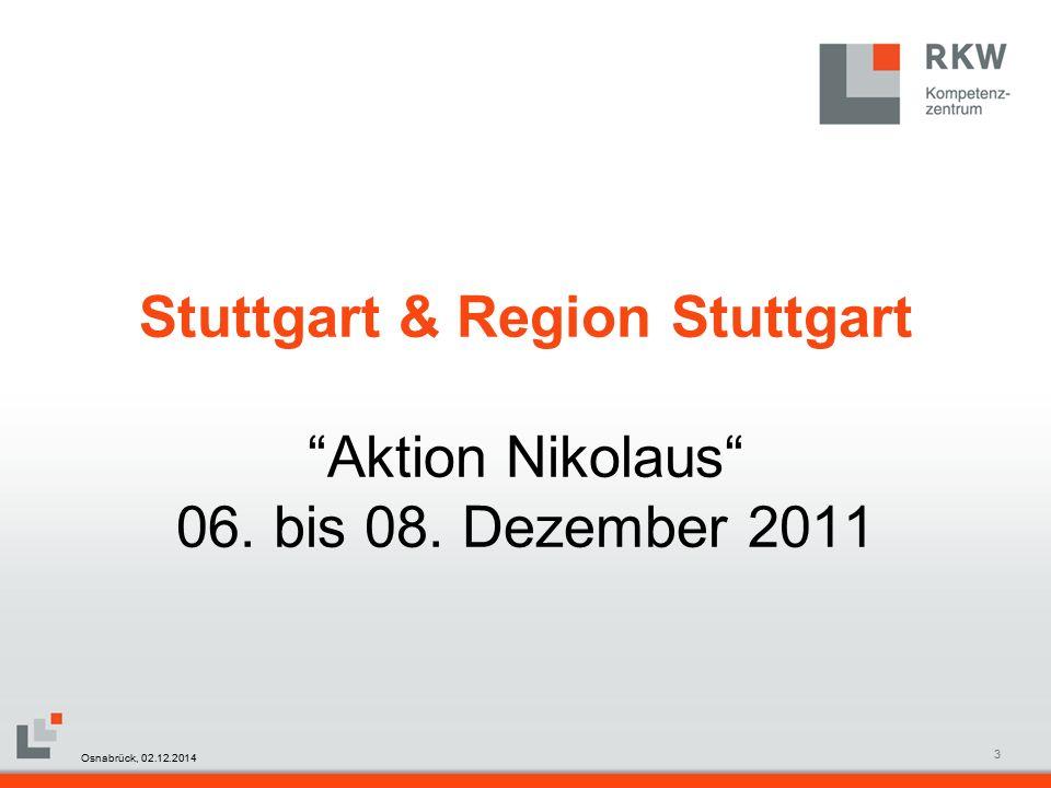 RKW Kompetenzzentrum Masterfolie Juni 20083 Stuttgart & Region Stuttgart Aktion Nikolaus 06.