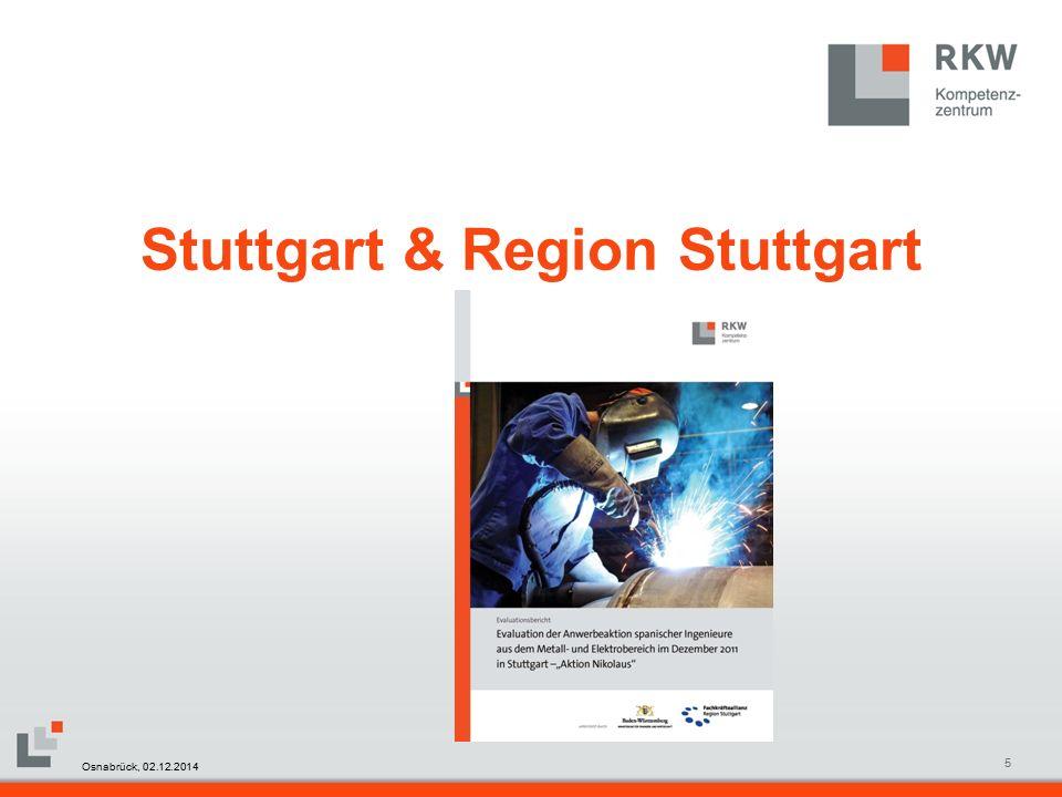 RKW Kompetenzzentrum Masterfolie Juni 20086 Stuttgart & Region Stuttgart Aktion VISIONJob 2012 Osnabrück, 02.12.2014