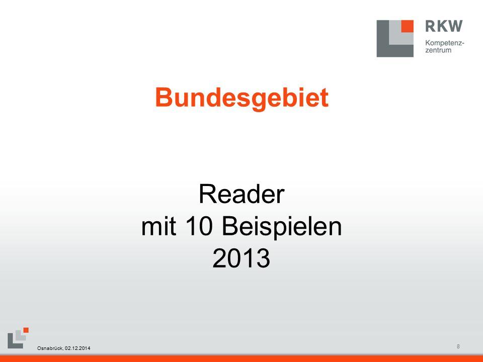 RKW Kompetenzzentrum Masterfolie Juni 20089 Bundesgebiet Osnabrück, 02.12.2014