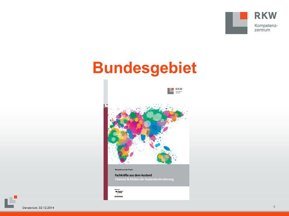 RKW Kompetenzzentrum Masterfolie Juni 200850 Willkommenskultur Vielen Dank für Ihr Interesse Osnabrück, 02.12.2014