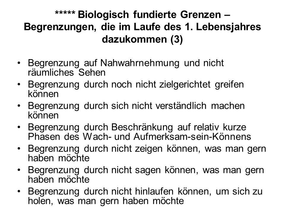 ***** Biologisch fundierte Grenzen – Begrenzungen, die im Laufe des 1.