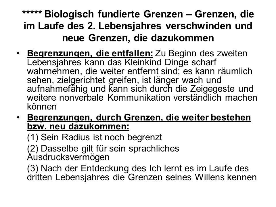 ***** Biologisch fundierte Grenzen – Grenzen, die im Laufe des 2.