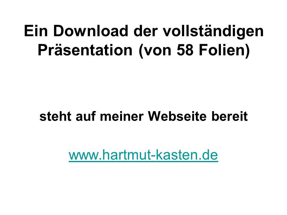 Ein Download der vollständigen Präsentation (von 58 Folien) steht auf meiner Webseite bereit www.hartmut-kasten.de