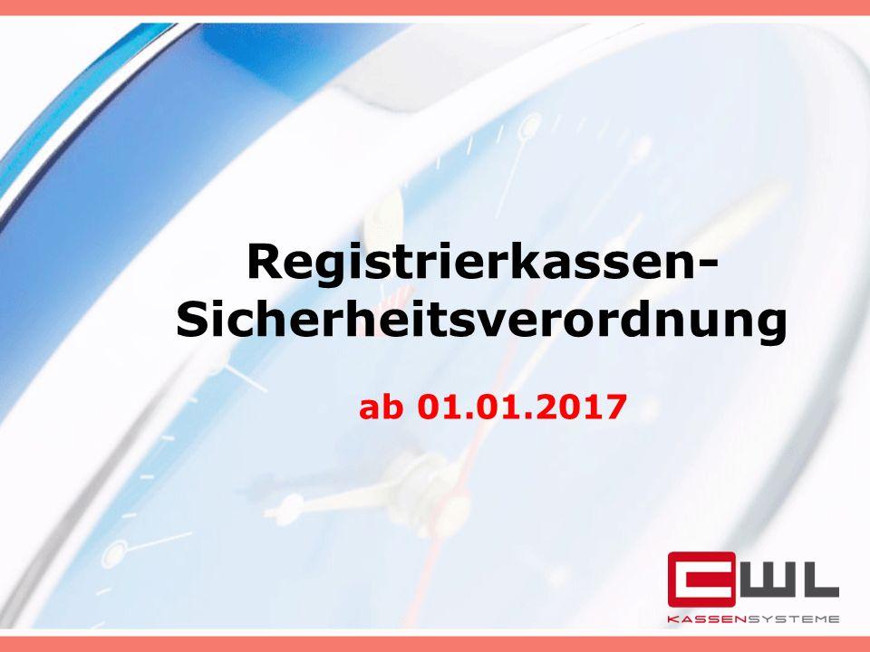 Registrierkassen- Sicherheitsverordnung ab 01.01.2017